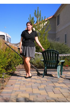 black Gap skirt - black Jcpenny blouse - black Target flats