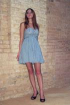 65c5e31598d8 sky blue Target dress - black heels · black shiny Wet Seal ...