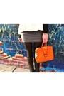 White-lulus-top-black-le-chateau-boots-carrot-orange-vintage-bag