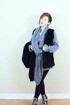 Matiko boots - faux fur flats - knit cardigan