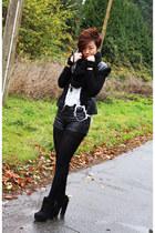 Senso boots - romwe jacket - Aldo scarf - H&M shorts