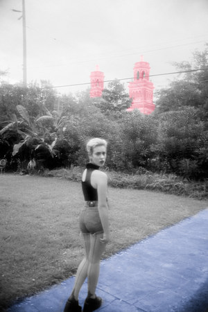 high waisted versace shorts - velvet vintage jumper