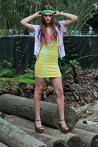hawaiian vintage blouse - body con Wow Couture dress