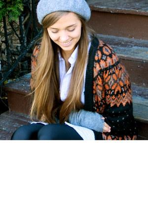 H&M hat - Zara sweater - American Apparel leggings - Ralph Lauren shirt