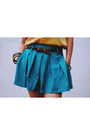 Teal-skirt-with-belt-oasap-skirt-mustard-forever-21-top