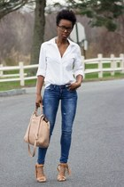 Zara jeans - banana republic shirt - Guess sandals
