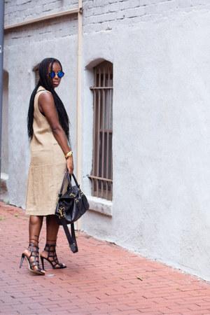 H&M top - Zara vest - H&M skirt - Zara heels