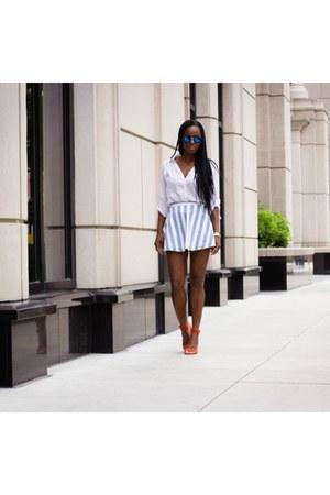 American Apparel skirt - banana republic top - Zara heels