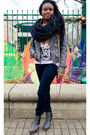 Charcoal-gray-ankle-boots-custom-made-boots-navy-skinny-jeans-dl1961-jeans