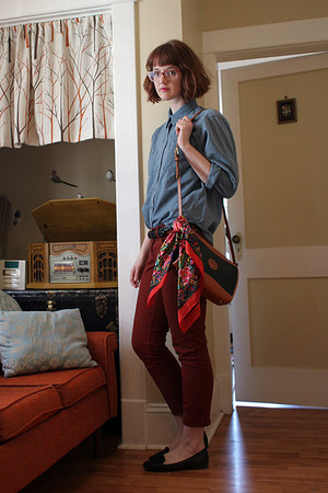 Old Navy shoes - thrifted shirt - Dooney & Bourke bag - Old Navy pants