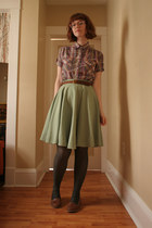 thrifted shirt - thrifted skirt