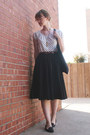 Black-fieldguided-bag-polka-dot-joe-fresh-top-black-skirt-old-navy-flats