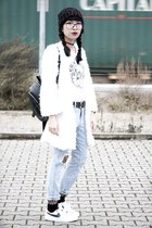 Zara jeans - knitted ToSave hat - nike sneakers
