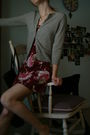Silver-thrifted-express-cardigan-red-urban-renewal-dress