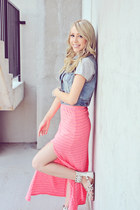 bubble gum American Eagle skirt - white Aldo Shoes shoes