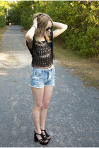 Forever 21 top - urban outffiters top - American Eagle shorts