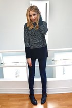 Forever 21 ring - Aldo shoes - jeggings Old Navy jeans - Joe Fresh sweater