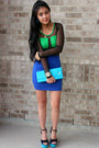 Heel-less-shoes-purse-sheer-bodysuit-bodycon-skirt-ring