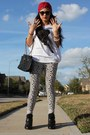 Forever-21-top-leggings-image-sneakers-studded-turban-accessories