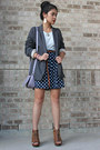 Dress-blazer-peep-toe-wedges-braided-belt