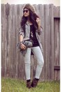 Light-brown-hat-heather-gray-gray-anorak-wet-seal-jacket