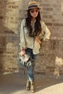 X-appeal-shoes-ripped-rugged-material-girl-jeans-straw-no-boundaries-hat