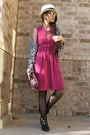 Military-dolce-vita-boots-folded-and-hung-dress-straw-hat