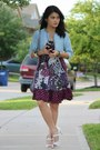 White-shoes-purple-no-boundaries-dress-light-blue-denim-shrug-jacket