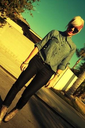 Jeffrey Campbell boots - Billabong shirt - f21 pants