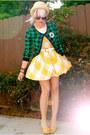 Thrifted-diy-dress-h-m-cardigan-footsies-heels