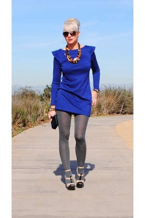 blue Poetry dress - black Charlotte Russe shoes