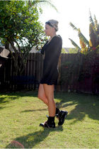 black vintage dress - black Docs boots