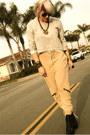 Black-topshop-boots-silver-h-m-sweatshirt-camel-h-m-pants-white-f21-t-shir