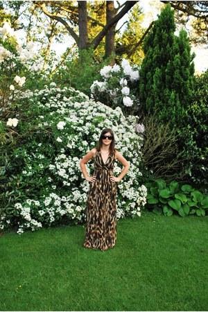 dark brown maxi dress F&F dress