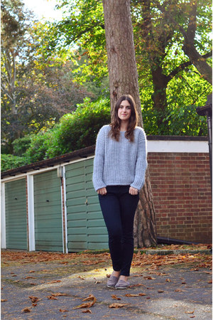 silver & other stories jumper - black Gap jeans - heather gray TOMS flats