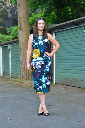 black Christian Louboutin heels - navy Glamorous dress