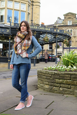 blue Gap jeans - light blue Zara scarf - sky blue Jigsaw jumper