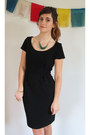 Black-tu-clothing-dress-teal-tu-clothing-necklace