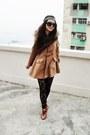 Burnt-orange-vintage-coat-black-lace-vintage-leggings
