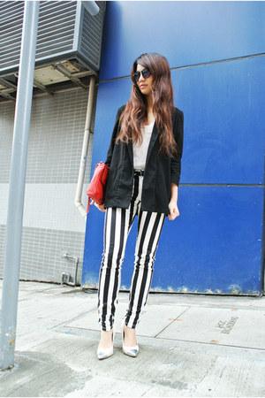 black asos jeans