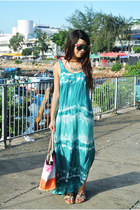 aquamarine Forever 21 dress - bubble gum kate spade bag