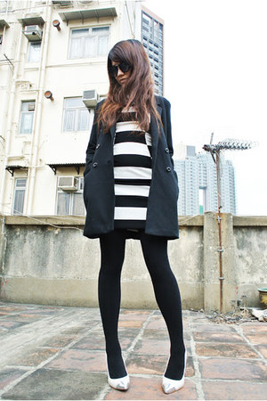 black stripped H&M dress