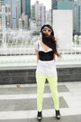 Black-bralet-forever-21-top-yellow-neon-zara-pants
