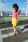 Hot-pink-river-island-necklace-color-block-imiko-dress