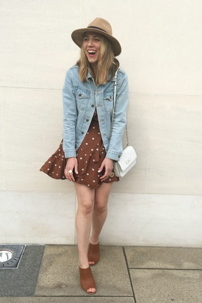 wool Aldo hat - leather Urban Outfitters shoes - cotton Urban Outfitters dress