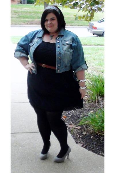 Denim Jackets, Black Dresses, Black Tights, Brown Belts, Heather ...
