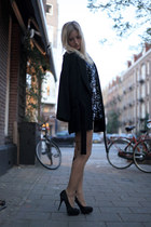 black 2nd Hand dress - black black kimono Zara jacket