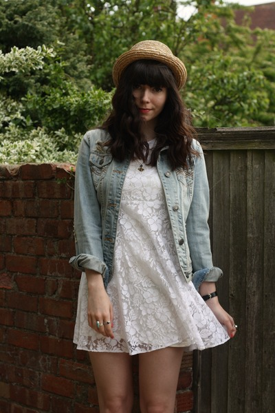 White Lace Dresses Denim Jacket Jackets | &quotLACE/DENIM&quot by