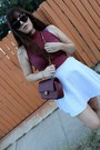 Ruby-red-crop-american-apparel-top-brick-red-chanel-purse
