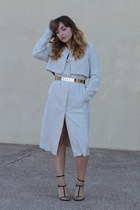 gold gold Adadi Collection belt - cream trench H&M coat